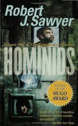 hominids-by-robert-j-sawyer cover
