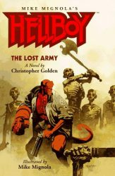 Hellboy The Lost Army, by Christopher Golden book cover