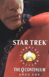 star trek next generation The Q Continuum, by Greg Cox book cover